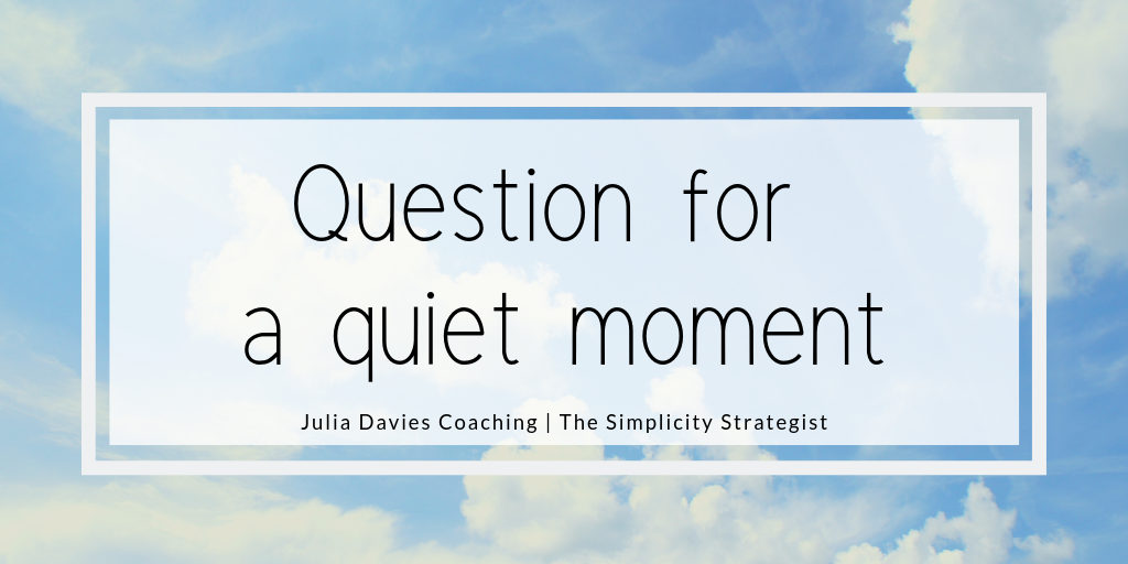 Blog post banner Question for a quiet moment