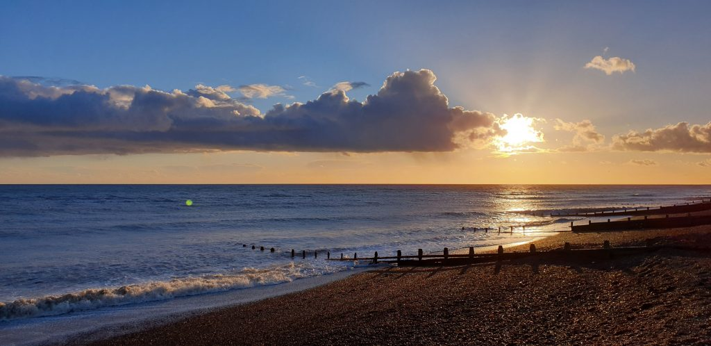 Worthing beach by Julia Davies, life coach