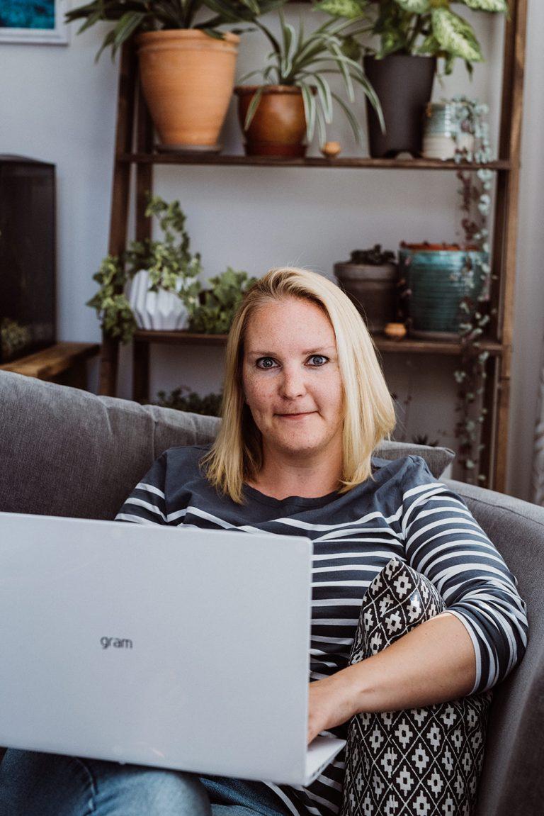 Julia Davies at home in Worthing