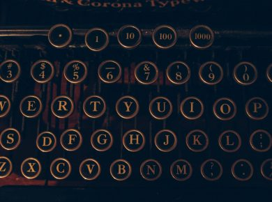 word of the year - a typewriter